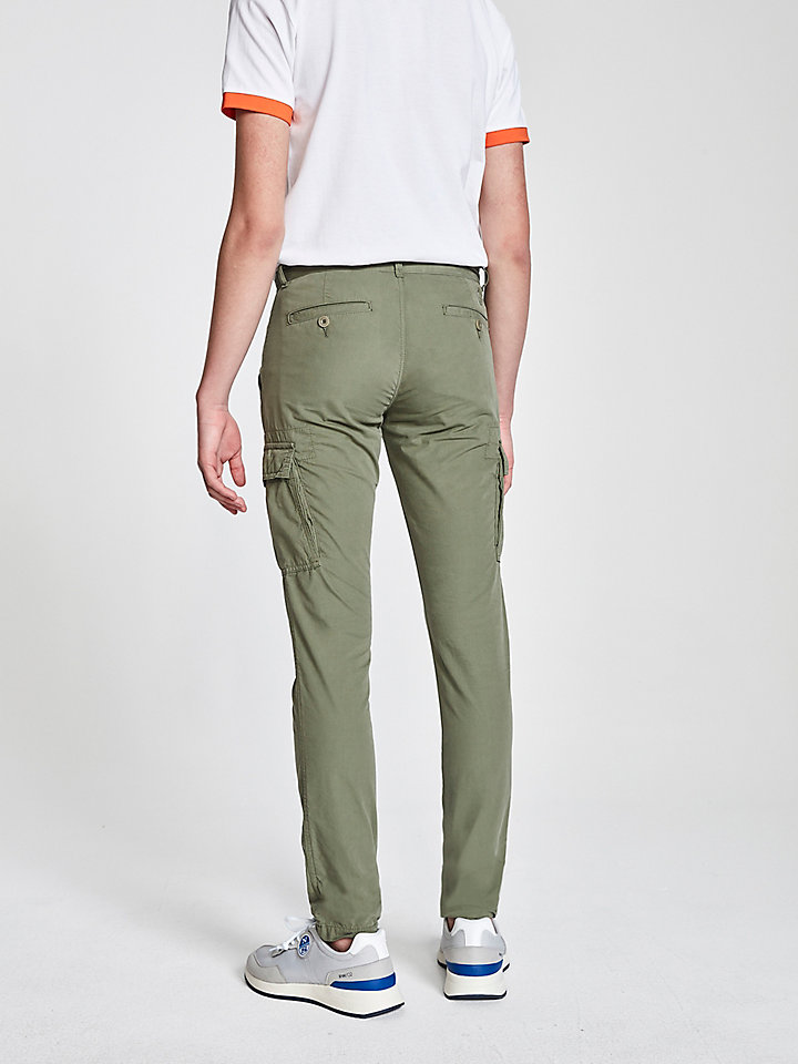 Cotton Poplin Cargo Trousers