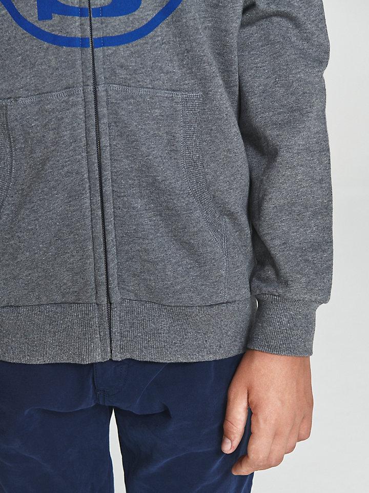 Zip-Up Cotton Hoodie