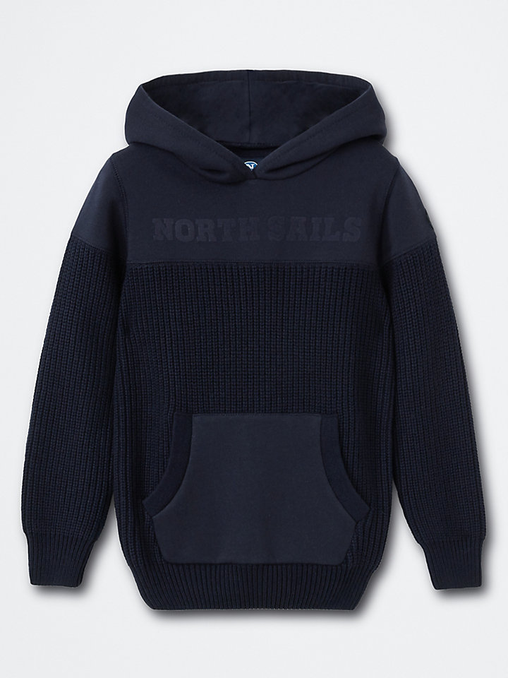 Cotton-Wool Blend Hooded Jumper