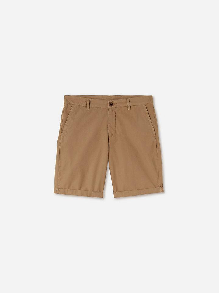 Cotton Poplin Chino Shorts