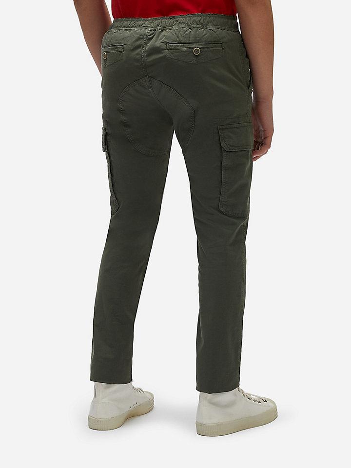 Poplin cargo trousers