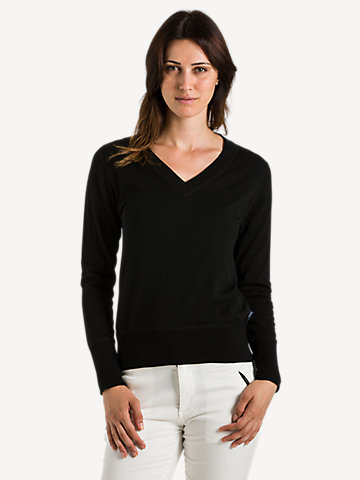 V-neck 14GG long sleeve