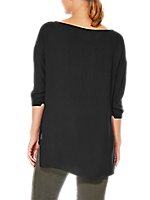 BOXY FIT 3/4 SLEEVE SWEATER