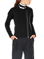 BOXY FIT FULL ZIP SWEATER